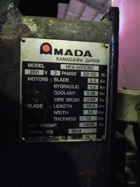 Amada 500mm Band Saw