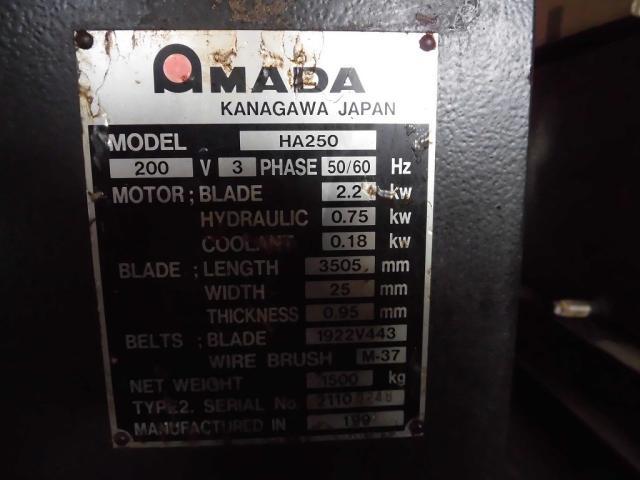 Amada 250mm Band Saw
