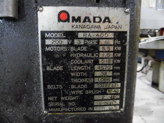 Amada 400mm Band Saw
