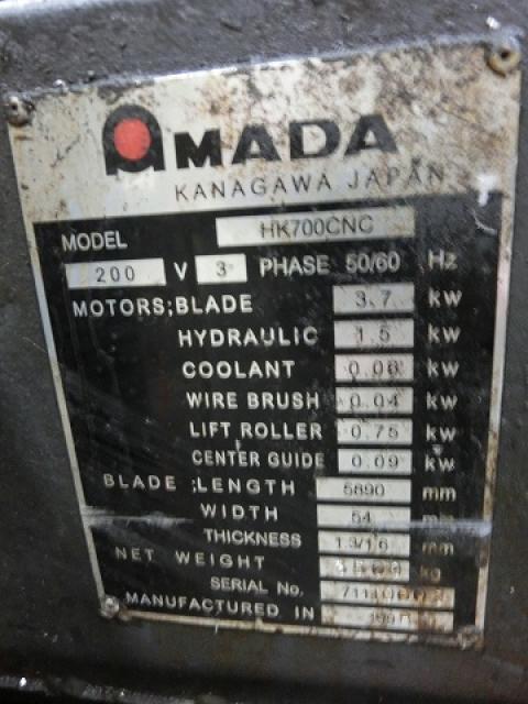 Amada 700mm Band Saw