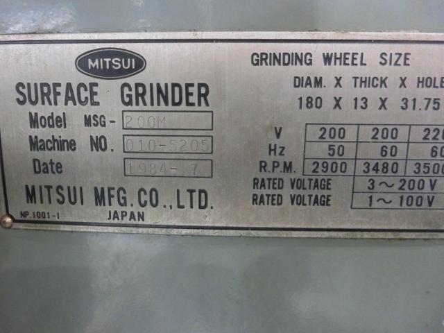Mitsui  Forming Grinding Machine