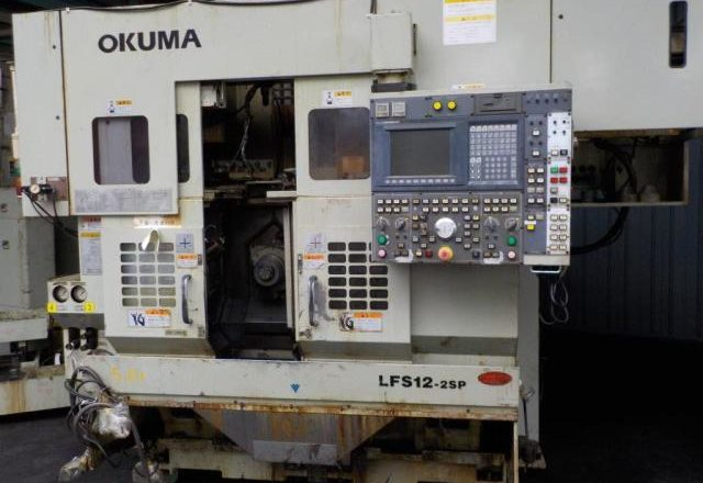 Okuma CNC parallel 2 spindle type lathe